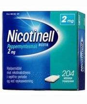 Nicotinell Tyggegum med peppermyntesmak 2 mg