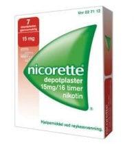 Nicorette Depotplaster 15 mg/16 timer