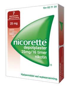 Nicorette Depotplaster 25 mg/16 timer