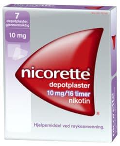 Nicorette Depotplaster 10 mg/16 timer