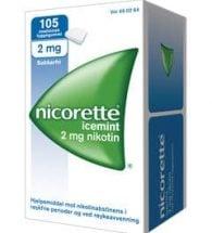 Nicorette Tyggegum med smak av icemint 2 mg
