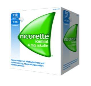 Nicorette Tyggegum med smak av icemint 4 mg