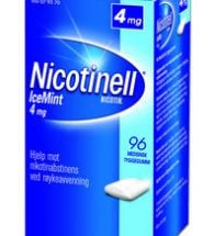 Nicotinell Tyggegum med smak av icemint 4 mg