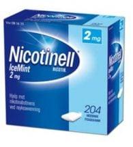 Nicotinell Tyggegum med smak av icemint 2 mg