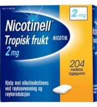 Nicotinell Tyggegum med smak av tropisk frukt 2 mg