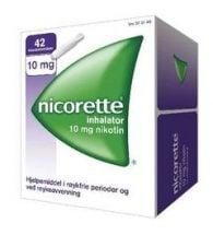 Nicorette Inhalator Væske til inh damp 10 mg/dose