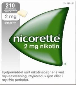 Nicorette Tyggegum med nøytral smak 2 mg